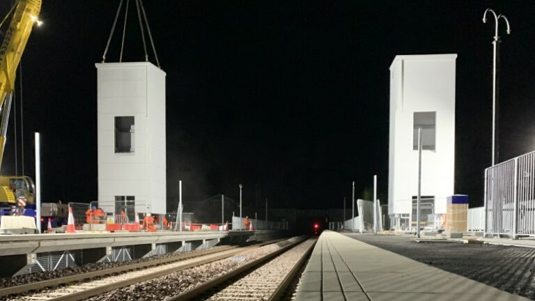 Kintore station takes shape as lift shafts are installed