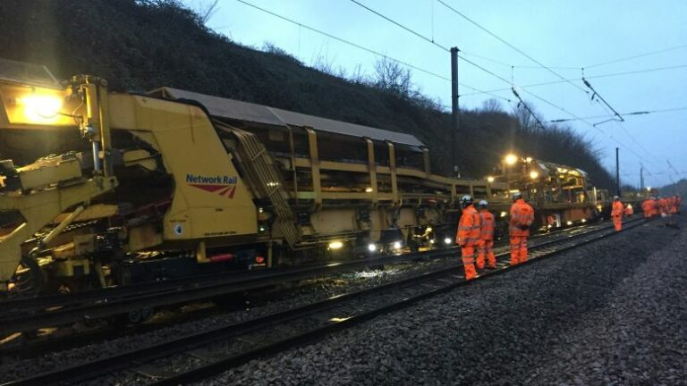 Major track renewals near Grantham completed on time