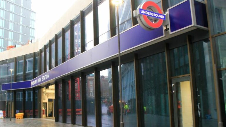 New entrance opens at London's Finsbury Park station.