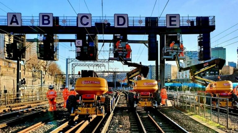 Network Rail successfully delivers Christmas work in the North West and Central regions