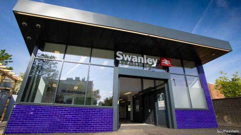 New station building at Swanley