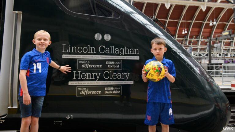 Train named after youngest-ever Superstars