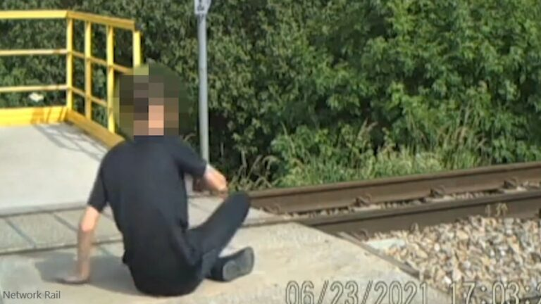 Warning after children dice with death on railway