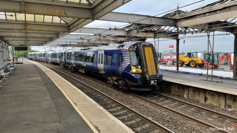 Troon station partially reopens after fire