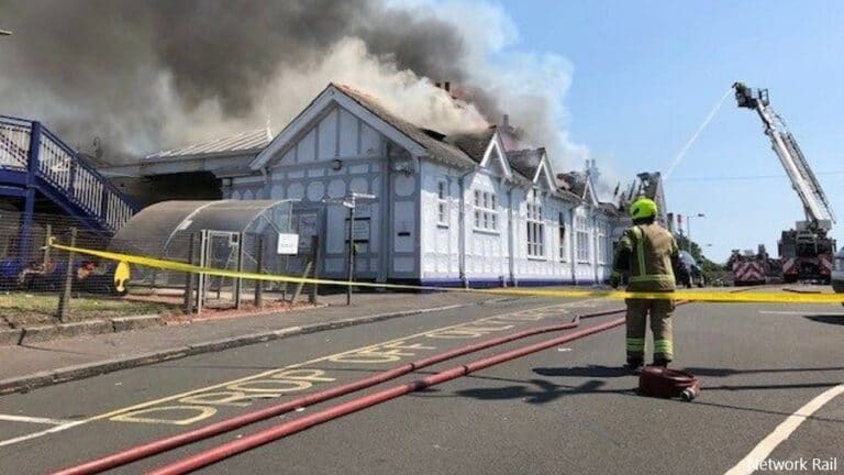 Troon Station fire disrupts rail services