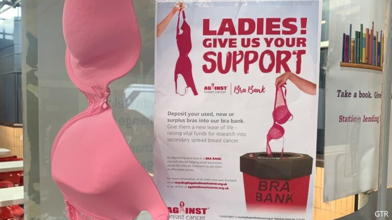 Bedford 'Bra Bank' hoping to make money for charity
