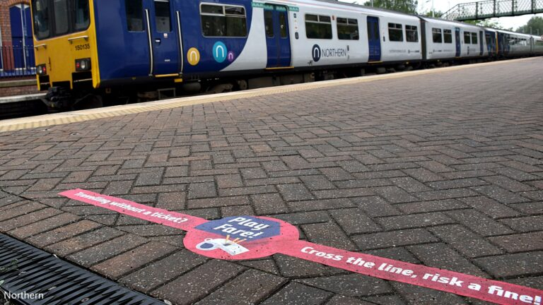 Northern rail passengers warned not to cross the line
