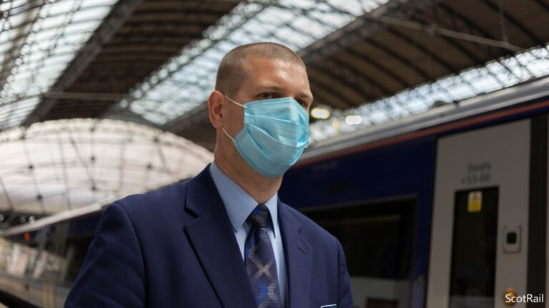 """ScotRail on masks: """"Wear one. Protect everyone"""""""