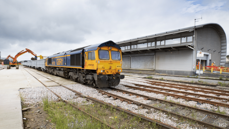 HS2 opens rail logistics hub for work in London
