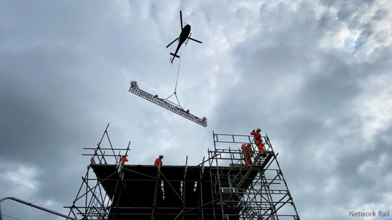 Tunnel operation takes flight with help from a helicopter